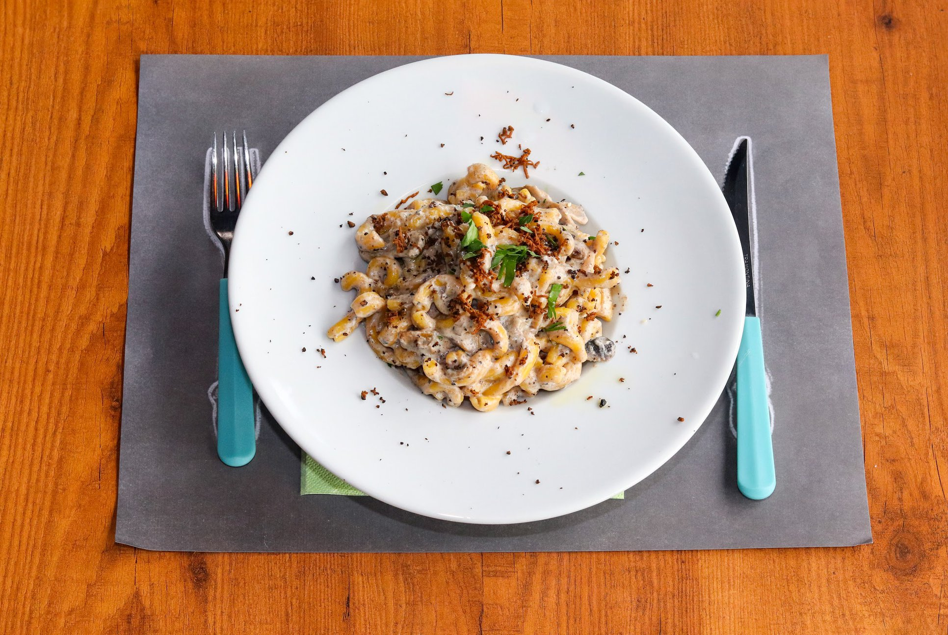 Mushroom Truffled Strozzapreti